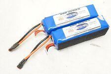 (2) Lightning Power 45c Performance LiPo Battery 6s 6 cell 5000mah 22.2v 550 600