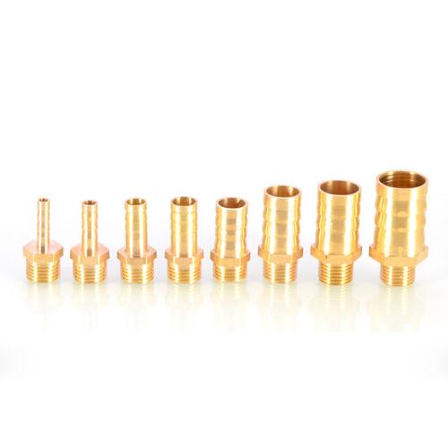 """2 un 1//4/"""" Rosca macho tubo montaje X 6mm Lengüeta Conector De Cola De Manguera Latón 12.7mm"""
