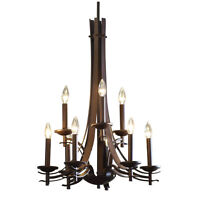 Allen + Roth 9-light Olde Bronze Chandelier