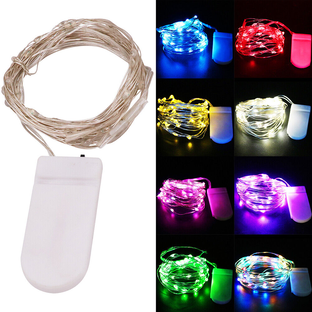 20/30/100 LED Battery Micro Rice Wire Copper Fairy String Lights Party White RO 10