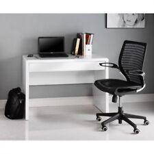 Gloss White Desk Staples Glass Desk