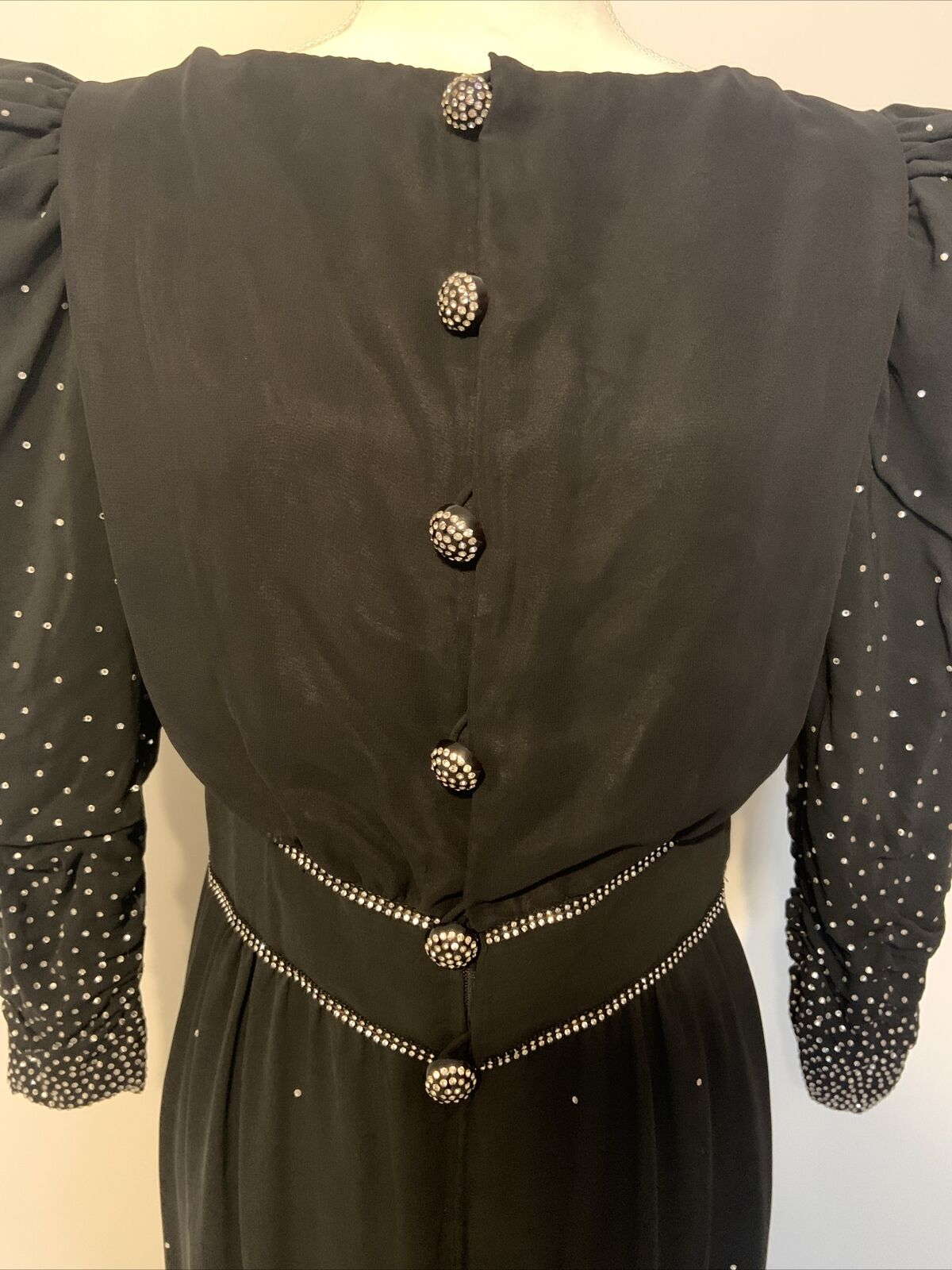 Arnold Scaasi Womens Vintage Couture Black Silk C… - image 3