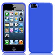FUNDA PROTECTOR PANTALLA IPHONE 5S 5 TPU SILICONA AZUL CARCASA BLUE TPU CASE