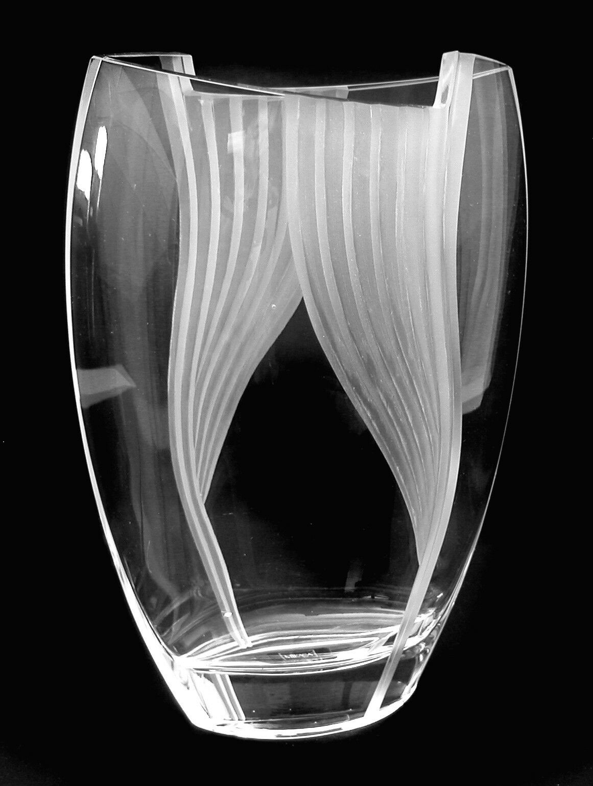 Glass pottery glass mikasa crystal 12 ellipse vase curtain call pattern new stunning reviewsmspy