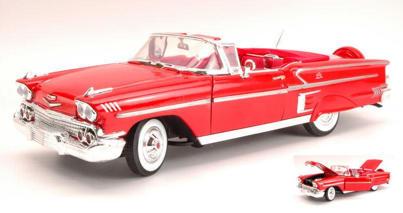 Chevy IMPALA Open 1958 rouge 1 18 MODEL Motormax