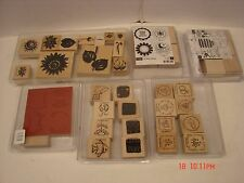 LARGE LOT 6 SCRAPBOOK CRAFT STAMPS SETS STAMPIN UP WOOD RUBBER TAGS TABS & MORE