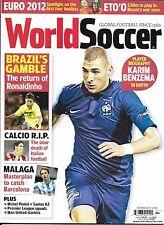 World Soccer magazine Karim Benzema Brazil Calcio Malaga Michel Platini Euro