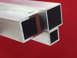 square tube aluminium square hollow sections 2 5 m long various sizes ebay. Black Bedroom Furniture Sets. Home Design Ideas