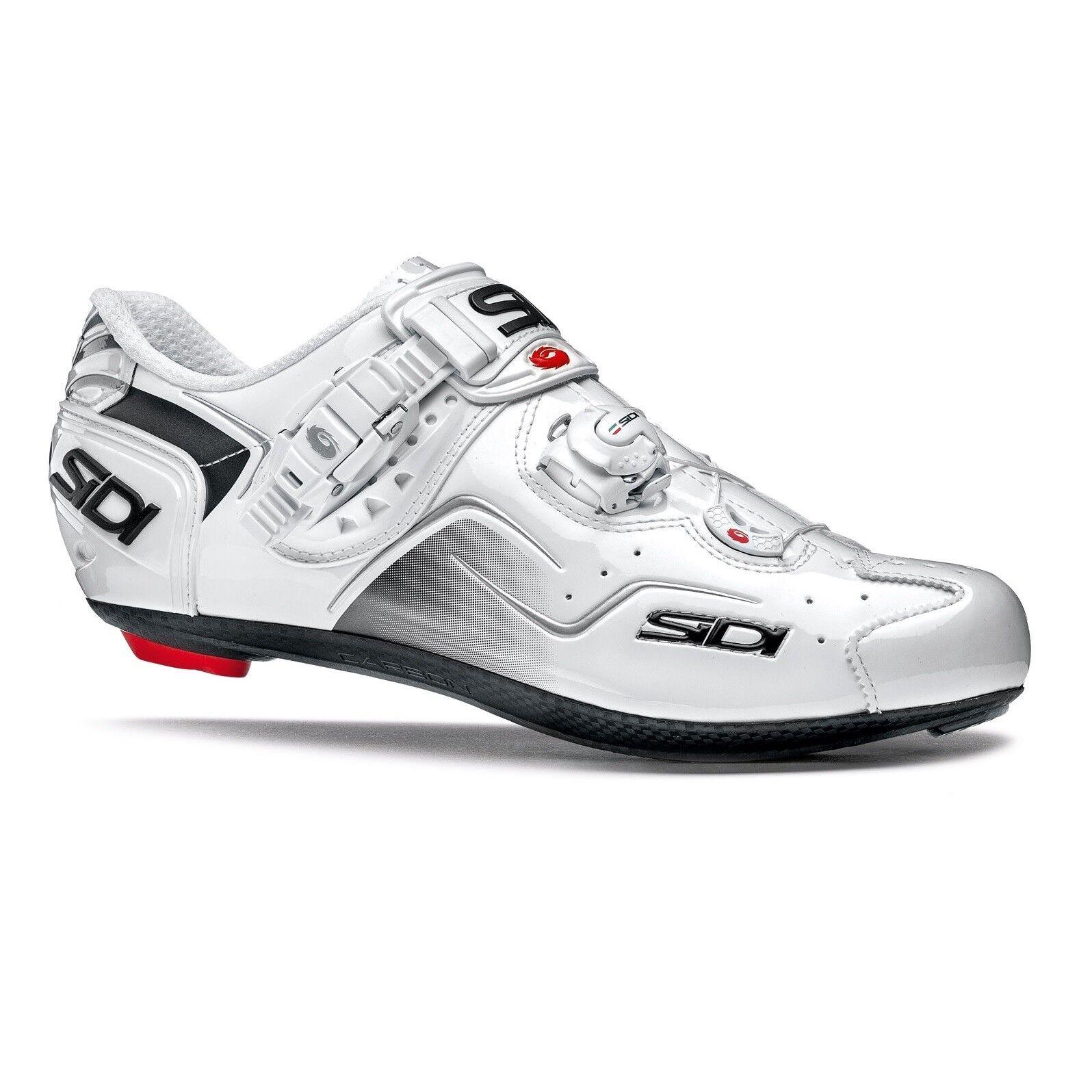 SIDI Kaos Road Cycling shoes Bike Bicycle shoes White White Size 36-46 EUR