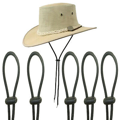 Flexible Removable Hat Chin Strap with Spring Loaded Stop Cord Hat Chin Cord