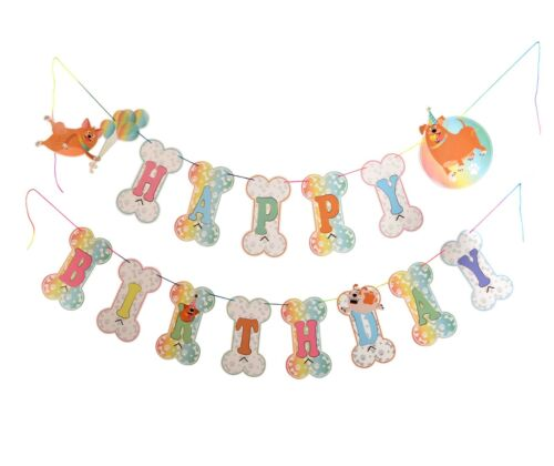 Paper Jazz Puppy Dog pet Theme Party Decoration Banner