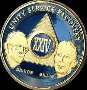 AA-Founders-24-Year-Medallion-Sobriety-Chip-Gold-amp-Ocean-Breeze-Blue-Token-Coin
