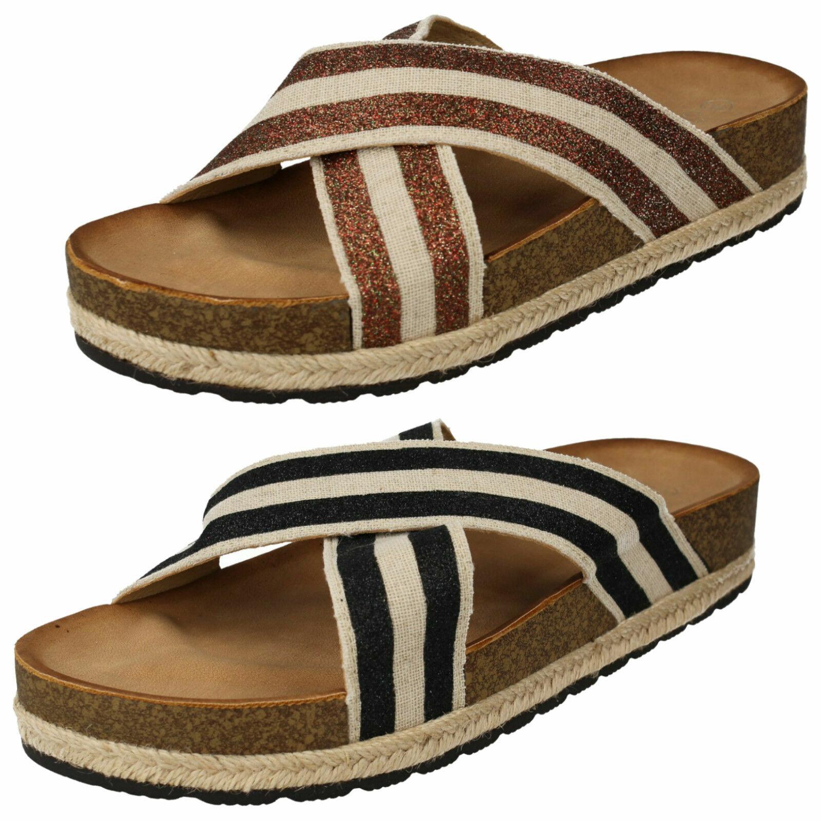 Ladies Savannah Slip On Mule Sandals F1R0866