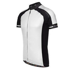 Image is loading NEW-Funkier-Gents-Short-Sleeve-Cycling-Jersey-White- e13f28ee7