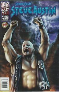 STONE-COLD-WWF-WWE-WRESTLING-LICENSED-CHAOS-COMIC-1999-BOOK-2-NEW
