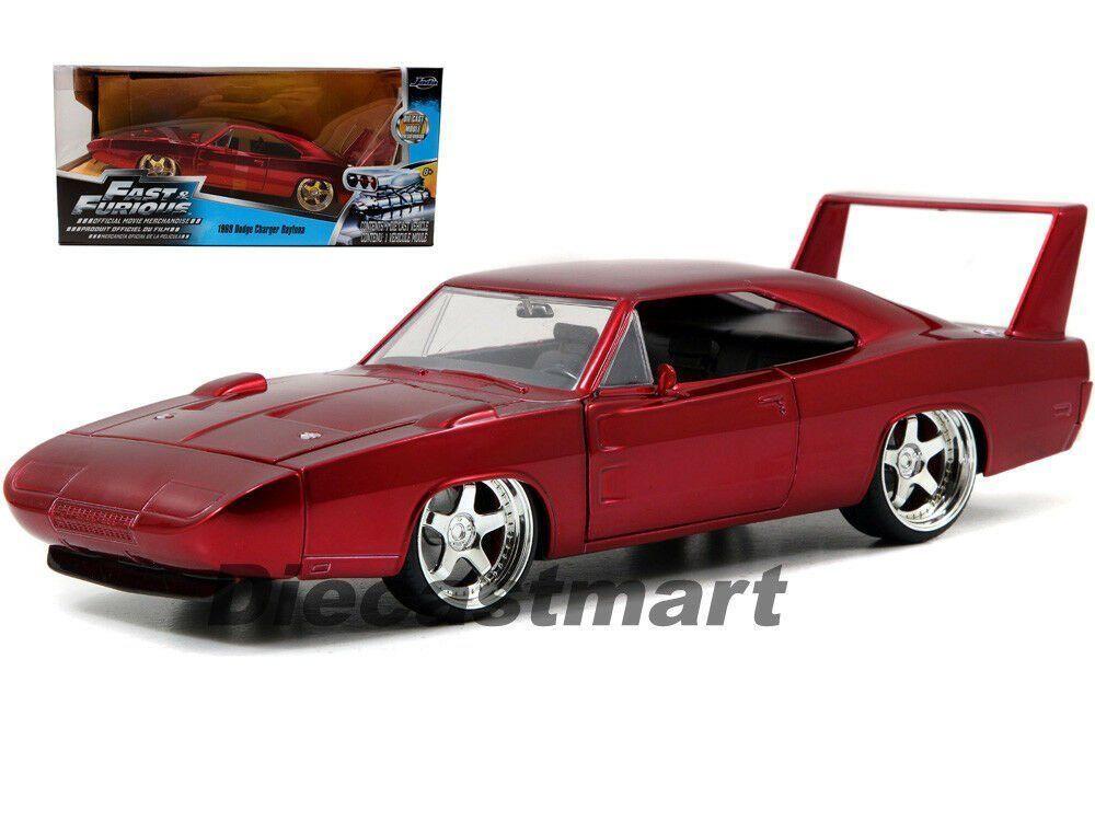 Dodge Charger Daytona 1969 - Met Red(F&F 7 1 24 Model Car