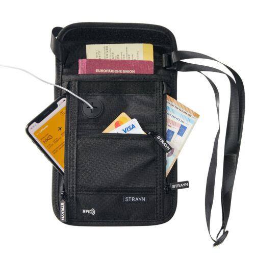 Strayn® Premium Brustbeutel mit RFID Schutz zum umhängen Reisebrusttasche
