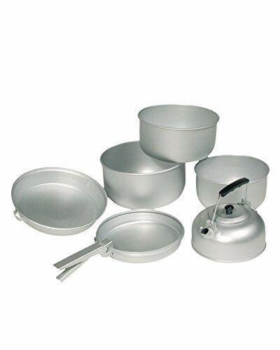 Argent 20.5 x Mil-Tec Aluminium 3 Pots pan pot de cuisine Set