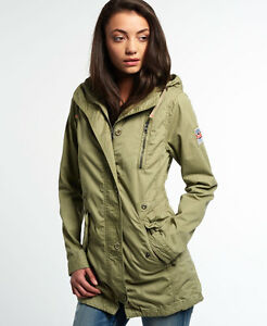 a8fda1cbcaf11 Image is loading New-Womens-Superdry-Rookie-Military-Parka-Jacket-Dull-