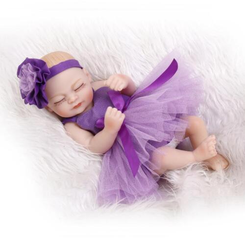 "11/"" Handmade Real Looking Newborn Baby Vinyl Full Body Silicone Reborn Doll Girl"