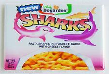 Sharks Pasta FRIDGE MAGNET can label hammerhead shark spaghetti