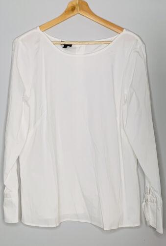 TALBOTS  Blouse White Shirt Women's Top Size M bea