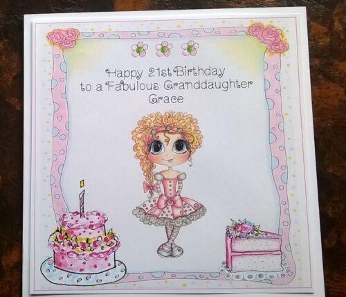 Handmade Personalised Birthday Card Any Age Girls Mum Niece