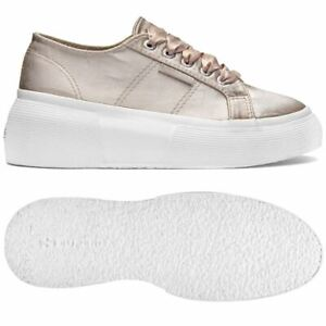 Superga-Scarpe-Donna-2287-SATINW-Chic-Zeppa