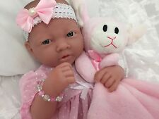 BERENGUER LA NEWBORN BABY GIRL DOLL+ MAGNETIC DUMMY  PLAY OR REBORN