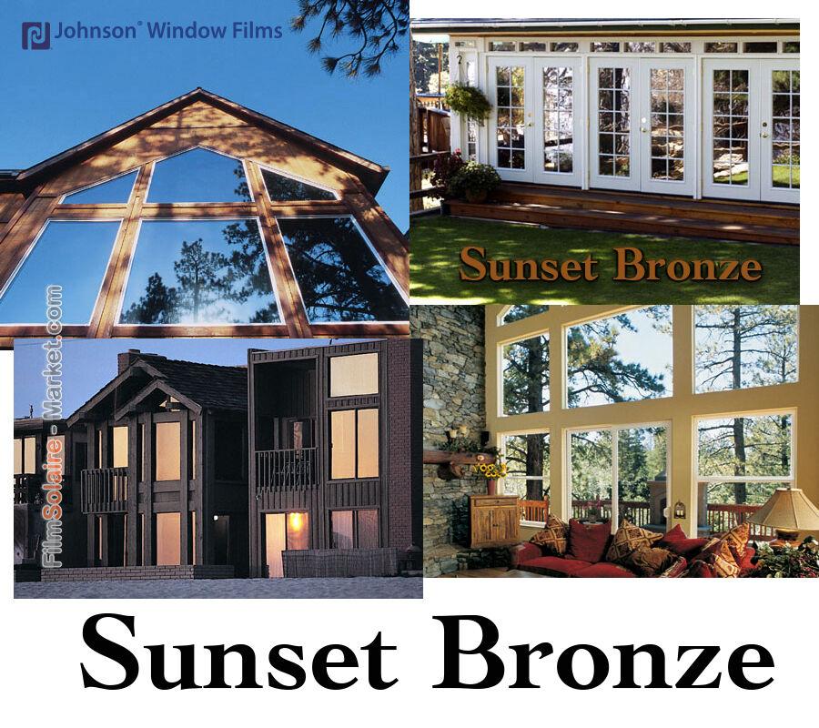 FILM SOLAIRE Vitrage bâtiment 0.61 x 30m protection anti-chaleur Sunset Bronze
