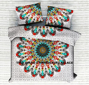 3pcs-Indian-Star-Mandala-Tapestry-Bed-Spread-Sheet-Set-Queen-Size-Bedding-Throw