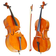 High Quality Cello 4/4 Full Size Natural BassWood +Bag+Bow+Rosin+Bridge