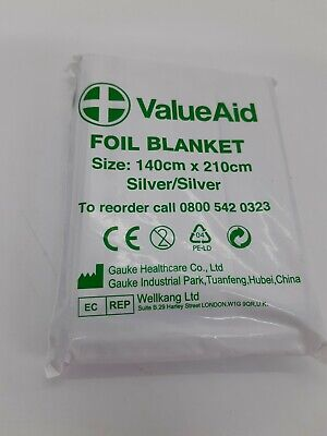 LARGE 2M EMERGENCY FOIL BLANKET Accident//Hypothermia Thermal First Aid Survival