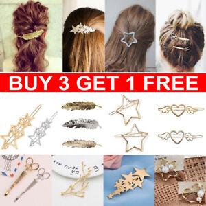 df264c36d0794 Women Girls Hair Clip Clamps Star Hairpin Barrette Slides Grips Hair ...