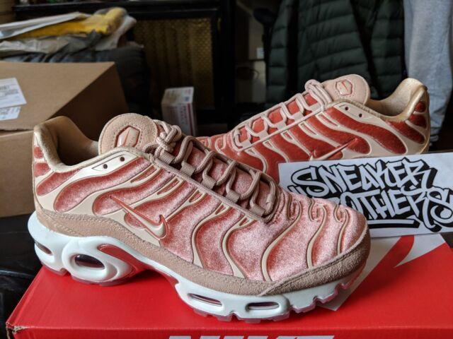 Nike W Air Max Plus LX Tuned 1 Suede Velvet Dusty Peach Pink Beige  AH6788-201