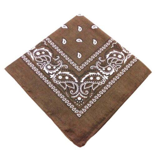 Bandana Paisley Imprimé Mouchoir Masque Foulard Motard Face Head Wrap écharpe châle