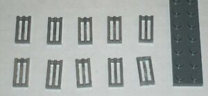 LEGO-NEW-1x2-Flat-Silver-Tile-Grille-10x-4619636-Brick-2412