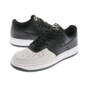 NIKE AIR FORCE 1 (GS) 314192-904 BLACK BLACK-NEUTRAL GREY VINTAGE ... 551a9391536f