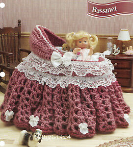crochet bassinet purse | Online Crochet Patterns Crocheted Cradle ... | 300x271