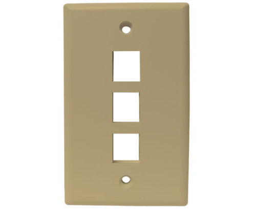 IVORY #WP2-064//3P//IV - 25 Pack 3-Port Wall Plate