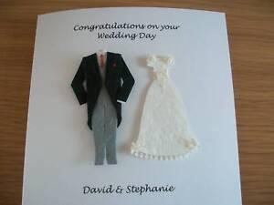 Image Is Loading Personalised Handmade Wedding Card Bride And Groom