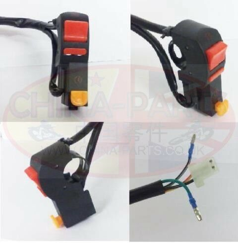 Chinese Bikes, ATV & Scooter Spares - GY125 Starter / Kill Switch