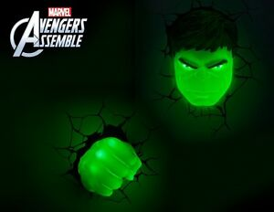Marvel avengers hulk 3d deco light fx led wall light nightlight set image is loading marvel avengers hulk 3d deco light fx led aloadofball Images