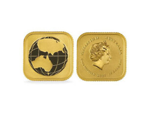 2017 1/10oz Australian Gold Global Economy (Square Map) BU .9999