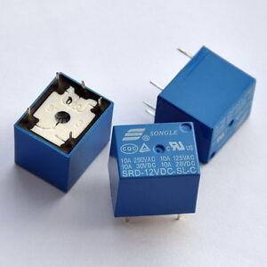 12v Spdt Relay 250v Ac 30v Dc 10 Amp X 5 Pcs Ebay