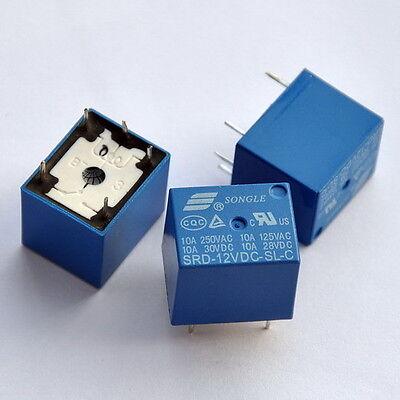 12V SPDT Relay, 250V AC/30V DC, 10 Amp,  x 5 PCS