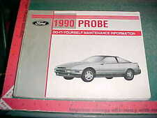 1990 FORD 2.2L TURBO GT PROBE LX V6 4CYL DO IT YOURSELF SERVICE MANUAL good+