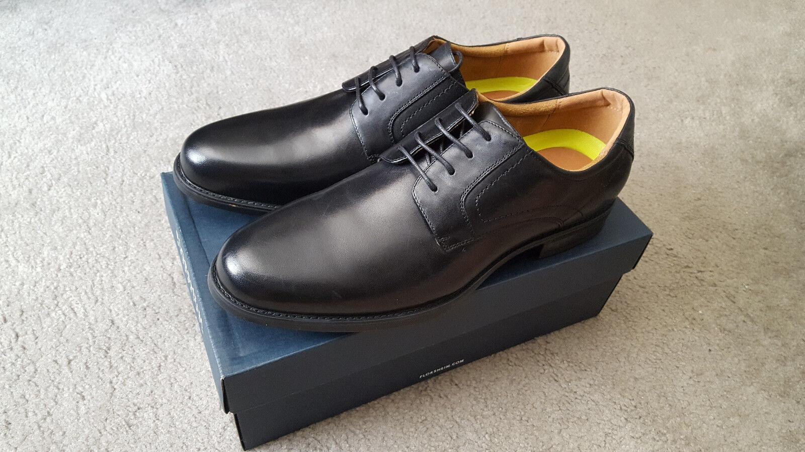 Zapatos De Vestir Men's Florsheim  Midtown  llano-Toe Comodidad De Cuero-Negro 9m