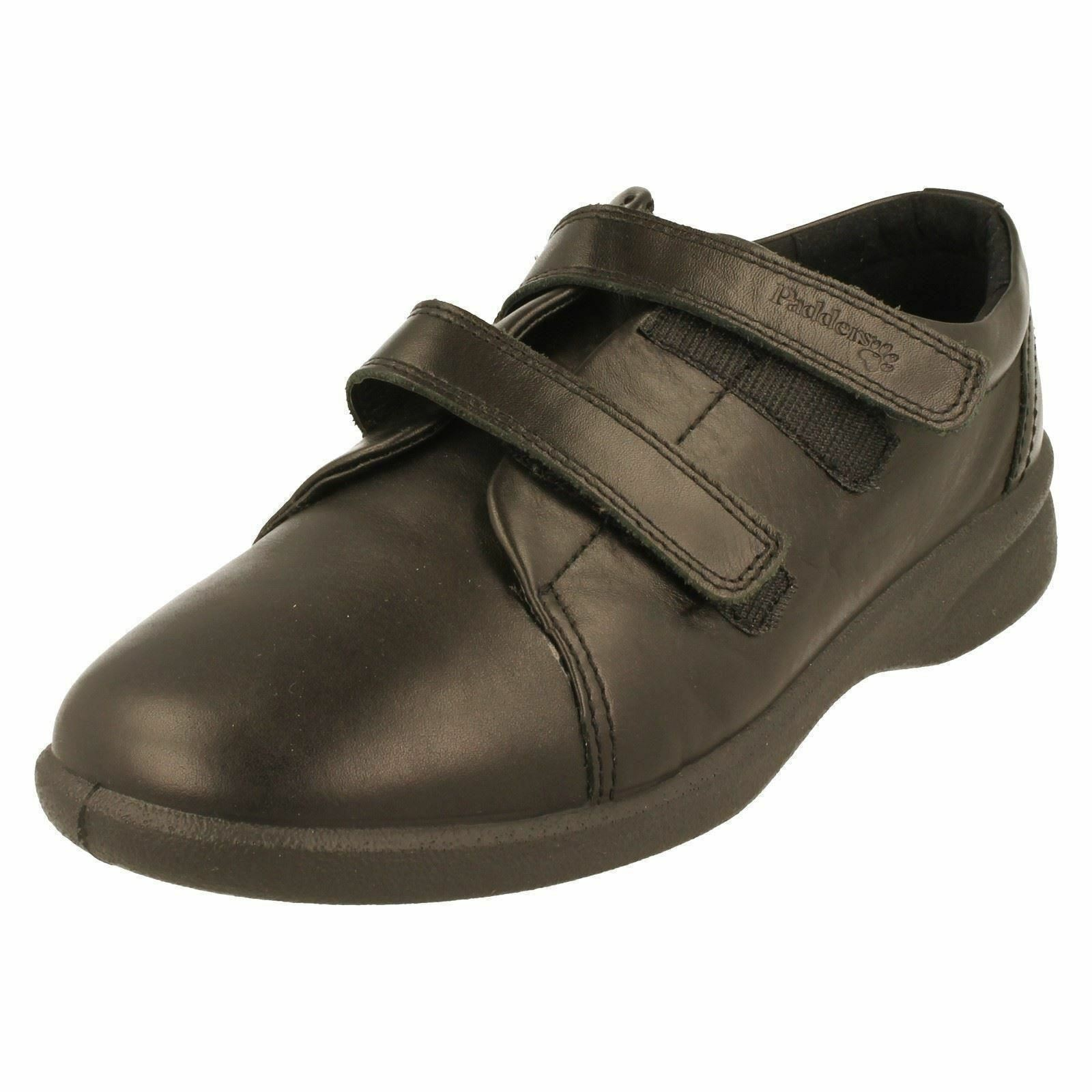 Mujer Padders 3e 4e Ajuste Zapatos negros negros negros de piel - talla UK 4.5 - REVIVE  entrega rápida