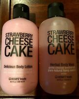 Hempz Treats Strawberry Cheesecake Delicious Body Lotion And Body Wash 8.5 Oz
